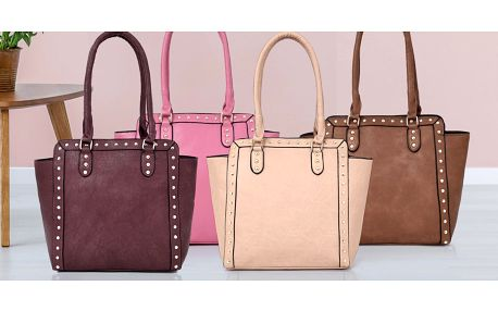 Elegantní dámské kabelky s cvočky: 6 barev