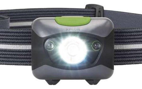 Čelovka GP 3 W LED + 2× červená LED (1451085600)2