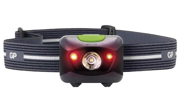 Čelovka GP 3 W LED + 2× červená LED (1451085600)3