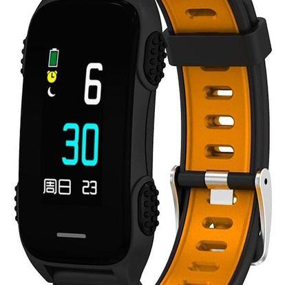 Fitness náramek CUBE 1 LY116 černý/oranžový (NEOSCULY11650)