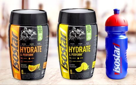 Energie pro sportovce: nápoj Isostar + lahev