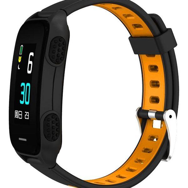 Fitness náramek CUBE 1 LY116 (NEOSCULY11650) černý/oranžový4