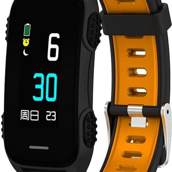 Fitness náramek CUBE 1 LY116 (NEOSCULY11650) černý/oranžový5