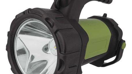 Svítilna EMOS LED P4526, 5W CREE + COB LED černá/zelená (1450000250)