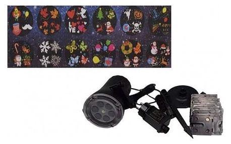 LED Projektor s 12-ti vyměnitelnými motivy