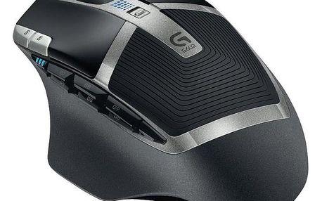 Logitech Gaming G602 Wireless černá / laserová / 11 tlačítek / 2500dpi (910-003822)
