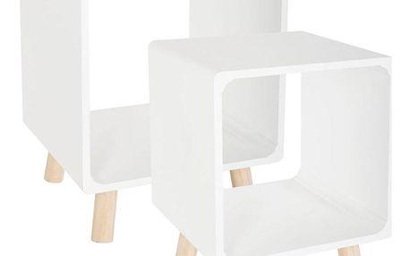 Atmosphera Sada nočních stolků v bílé barvě, 45x35 cm