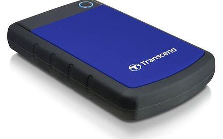 """Externí pevný disk 2,5"""" Transcend StoreJet 25H3B 1TB černý/modrý (TS1TSJ25H3B)"""