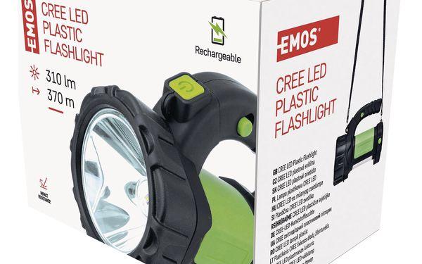 Svítilna EMOS LED P4526, 5W CREE + COB LED (1450000250) černá/zelená5