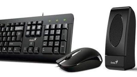 Klávesnice s myší Genius KMS U130 + reproduktory černá (31280005403)