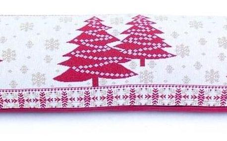 BO-MA Trading Vánoční ozdobný těsnící polštář do oken Stromky, 90 x 22 cm