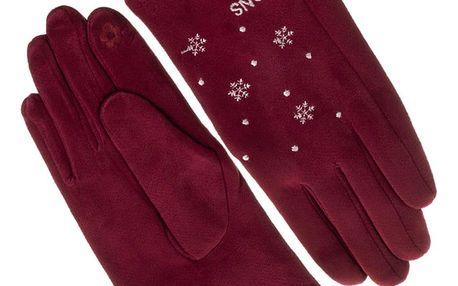 Dámské elegantní rukavice Snow vločky
