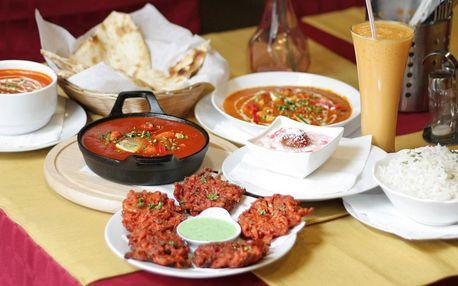 3chodové indické menu pro 2 nebo 4 osoby