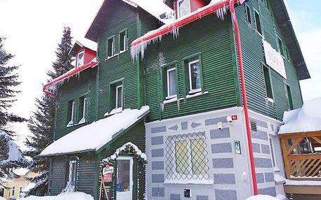 Krušné hory v hotelu u střediska Klínovec s wellness a polopenzí, také v hlavní zimní sezóně