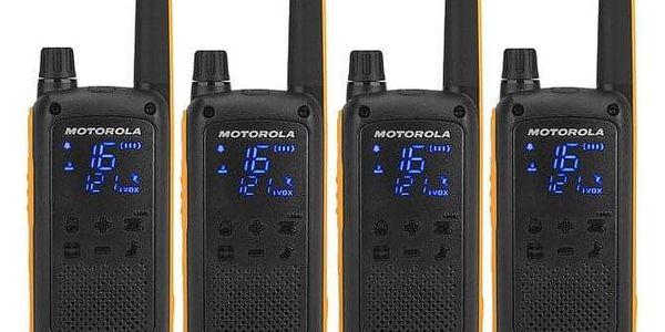 Vysílačky Motorola TLKR T82 Extreme Quad Pack černý/žlutý (B8P00810YDEMAQ)