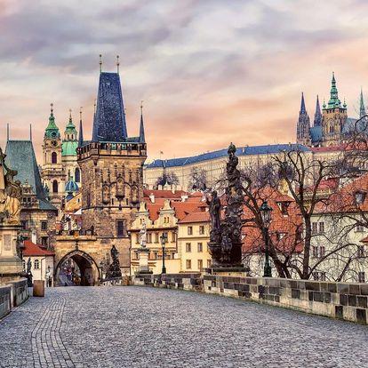 Centrum Prahy jako na dlani z hotelu The Golden Wheel Hotel**** se snídaní