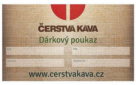 Dárkový poukaz Čerstvá Káva 500 Kč