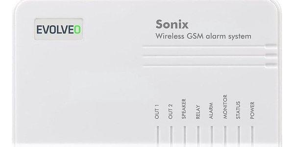 Alarm Evolveo Sonix, bezdrátový, GSM bílý (ALM301)