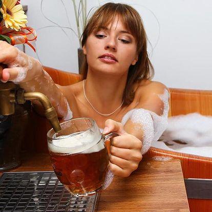 80 minut v pivních lázních pro 2 vč. konzumace piva