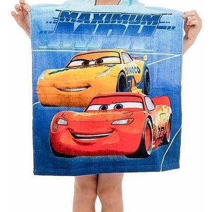 Jerry Fabrics Dětské pončo Cars 046, 50 x 115 cm