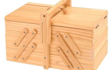 Emako Klasický box na šicí potřeby s 5 přihrádkami, 30x20x16 cm