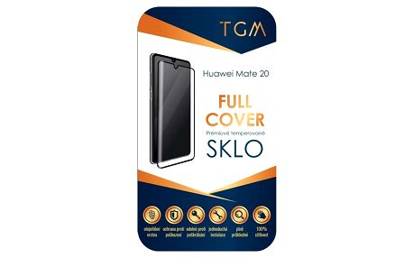 Ochranné sklo TGM Full Cover pro Huawei Mate 20 černé (TGMHUAWM20BK)