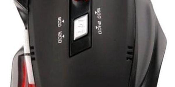 Myš C-Tech Akantha černá/červená (/ optická / 6 tlačítek / 2400dpi) (GM-01R)