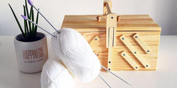 Emako Klasický box na šicí potřeby s 5 přihrádkami, 30x20x16 cm3