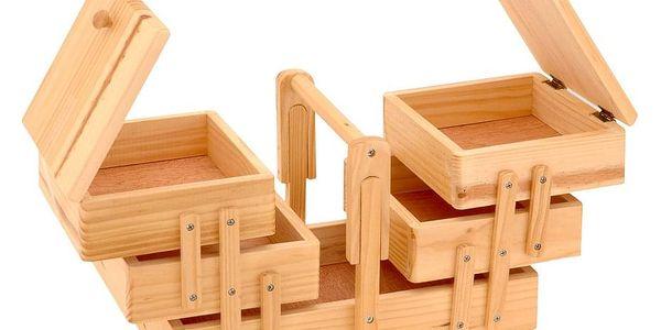 Emako Klasický box na šicí potřeby s 5 přihrádkami, 30x20x16 cm5