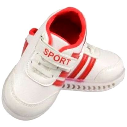 Dětské tenisky blikající bíločervené