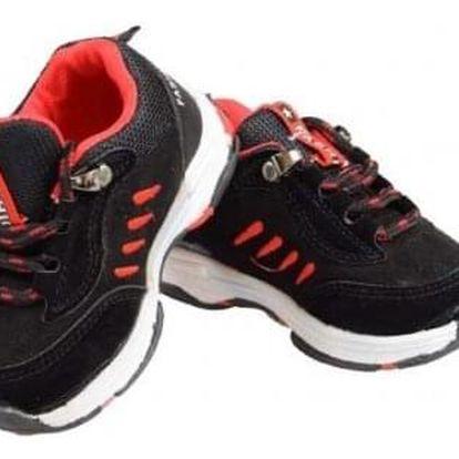 Dětské tenisky černočervené Fashion