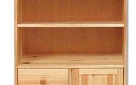 Knihovna KW126 masiv borovice