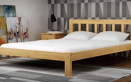 Dřevěná postel Ofelia 140x200 + rošt ZDARMA bílá