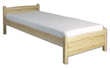 Dřevěná postel 80x200 LK125 borovice