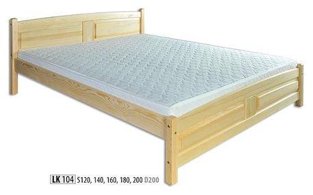Dřevěná postel 180x200 LK104 borovice