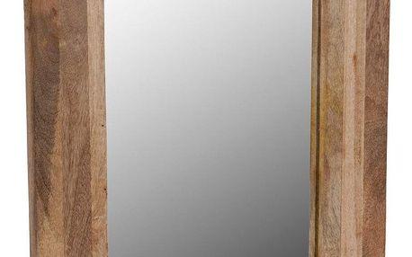 Emako Zrcadlo nástěnné v dřevěném rámu z mangového dřeva, 40x50 cm