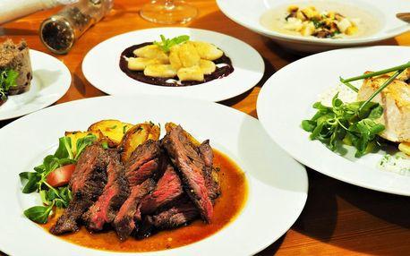 4chodové menu: paštika, steak i tvarohové knedlíčky