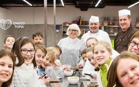 Workshop v Muzeu čokolády Chocotopia s ochutnávkou i výrobou čokoládových tabulek