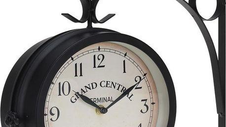 Emako Nástěnné hodiny, kovové, 33x9x20m