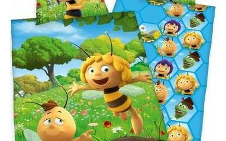 Herding Dětské bavlněné povlečení do postýlky Včelka Mája, 100 x 135 cm, 40 x 60 cm