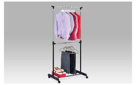 Stojan na šaty, černý plast/chrom ABD-1213 BK