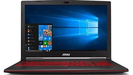 Notebook MSI GL63 9RC černý (GL63 9RC-200CZ)
