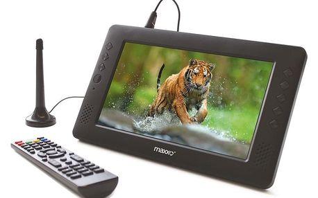 Televize Maxxo mini TV HD – T2 HEVC/H.265 černý + dárek Kabel Maxxo HDMI k TV pro FullHD přenos, 1m černý v hodnotě 289 Kč + DOPRAVA ZDARMA