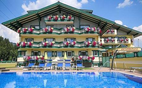 Rakouské Alpy: léto v Hotelu Unterberghof **** s polopenzí a bazénem + děti zdarma