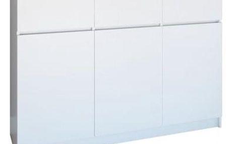 Komoda 3D3S 120 cm bílá