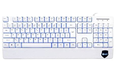 Klávesnice C-Tech KB-104W bílá (KB-104W)