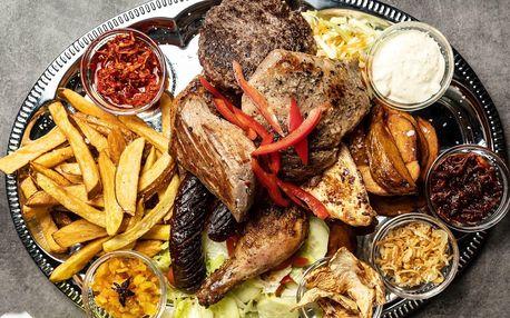 Mix grill: Nálož masových specialit vč. příloh a omáček
