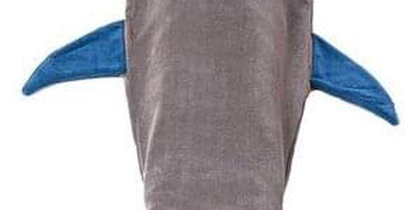 Domarex Dětská deka Žralok šedá, 145 cm2