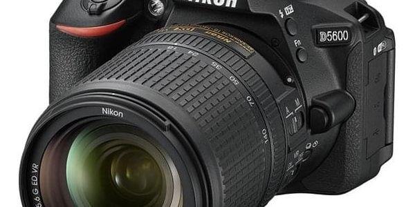 Digitální fotoaparát Nikon D5600 + 18-140 AF-S VR (VBA500K002) černý Dárkový poukaz Nikon 1000 Kč + DOPRAVA ZDARMA