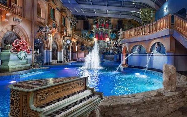 Liberec: WELLNESS HOTEL BABYLON **** se snídaní a Aquaparkem + 2 děti zdarma